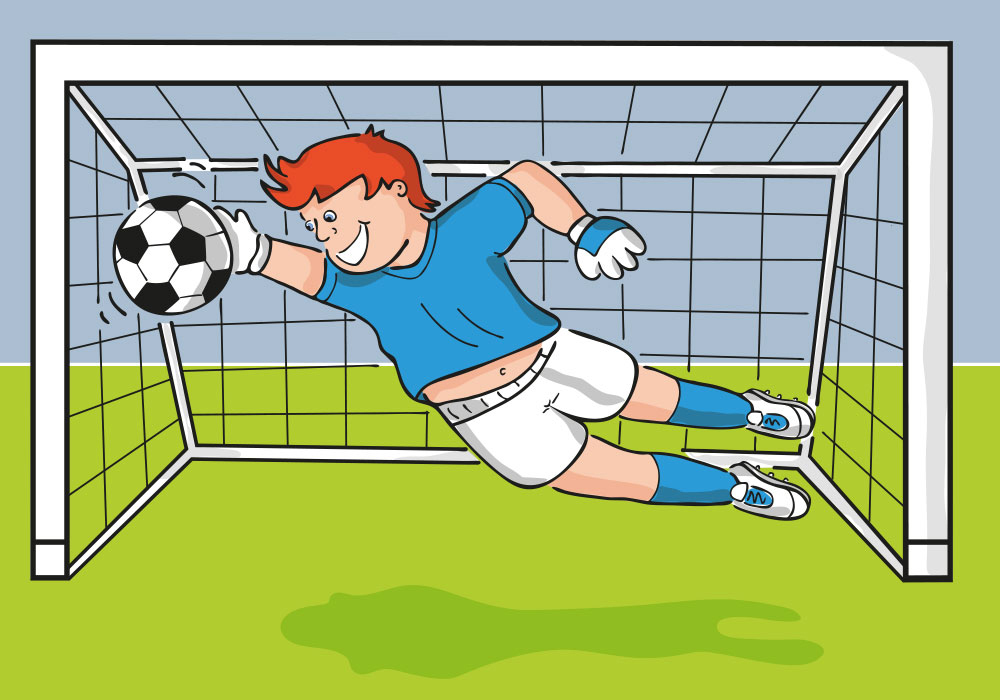 starke freunde spielen fussball