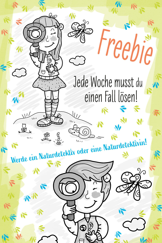 naturdetektive, freebie, evelyn faulhaber illustration, ausweis, naturschutz, umweltschutz, lernblatt, arbeitsblatt